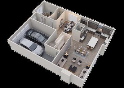 Alder Main Floor Loft 3D